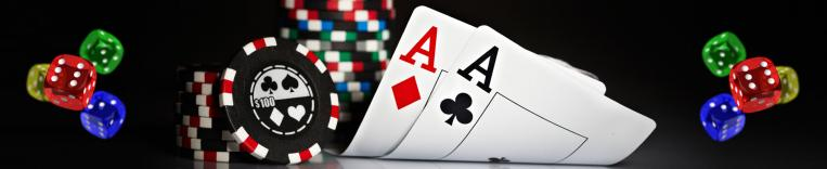 casino games with dice cards and casino chips